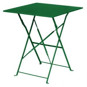 Bolero Garden Green Pavement Style Steel Table Square 600mm