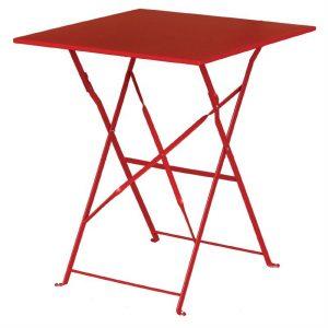 Bolero Red Square Pavement Style Steel Table