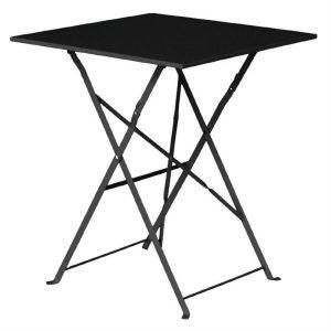 Bolero Black Square Pavement Style Steel Table