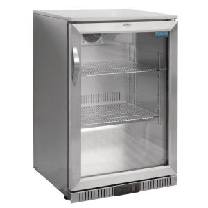 Polar Back Bar Cooler with Hinged Door in Stainless Steel 138Ltr