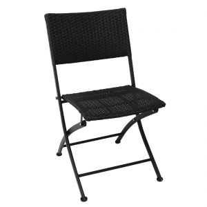 Bolero PE Wicker Folding Chair Set (Pack of 2)