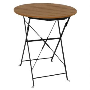 Bolero Round Faux Wood Bistro Table 600mm