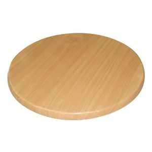 Bolero Pre-drilled Round Table Top Beech Effect 800mm