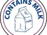 Vogue Food Allergen Label Milk
