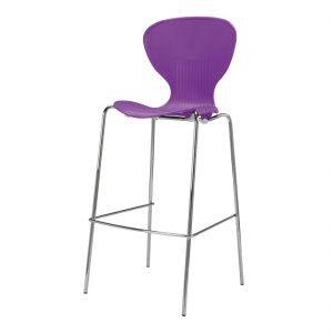 Bolero Stacking Purple Plastic High Stool (Pack of 4)