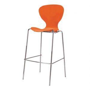Bolero Stacking Orange Plastic High Stool (Pack of 4)