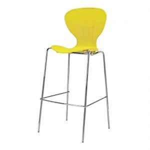 Bolero Stacking Yellow Plastic High Stool (Pack of 4)