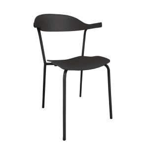 Bolero PP Wishbone Chair Black (Pack of 4)