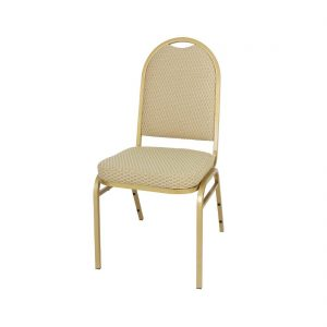 Bolero Steel Banquet Chair with Neutral Cloth (Pack of 4)