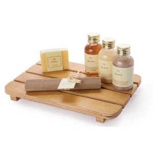 Wooden Slatted Amenities Tray