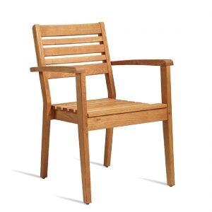 Bolero Wooden Stacking Armchair