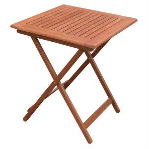 Bolero 600mm Square Wooden Folding Table