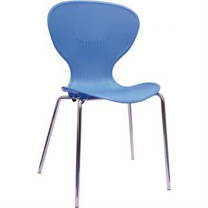 Bolero Blue Stacking PP Sidechair (Pack of 4)