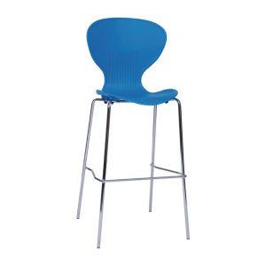 Bolero Blue Stacking PP High stool (Pack of 4)
