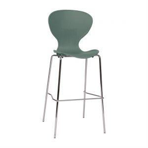 Bolero Slate Grey Stacking PP High stool (Pack of 4)