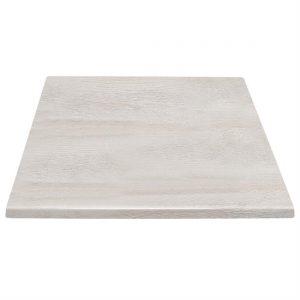 Bolero Pre-drilled Square Table Top Whitewash 700mm