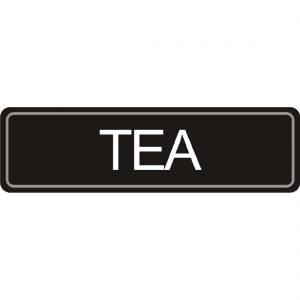 Adhesive Airpot Label - Tea