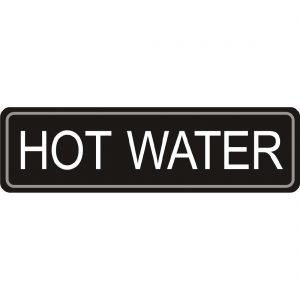 Adhesive Airpot Label - Hot Water