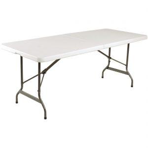 Bolero Centre Folding Utility Table 6ft White
