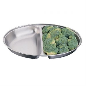 """""""Olympia Oval Vegetable Dish Two Compartments 200mm"""""""