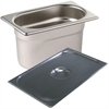 9 x 1/9 Gastronorm Pans With Lids