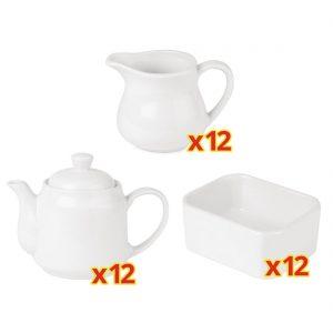 SPECIAL OFFER 12 sets of 3 piece Athena Tea Service (CC204) (U819) (CC205)