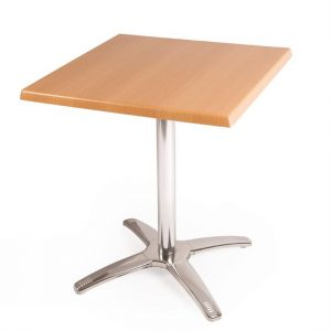 Special Offer Bolero Square Beech Table Top and Base Combo