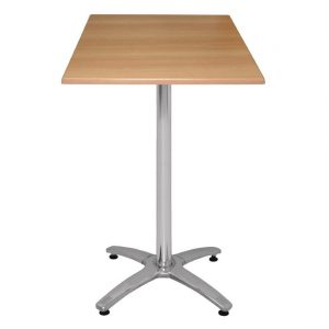 Special Offer Bolero Poseur Height Square Beech Table Top and Base Combo