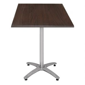 Special Offer Bolero Poseur Height Square Dark Brown Table Top and Base Combo