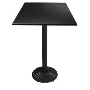 Special Offer Bolero Poseur Height Square Black Table Top and Base Combo