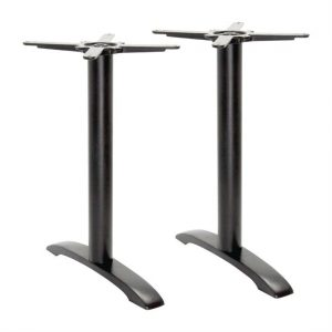 Bolero Cast Iron Twin Leg Poseur Table Base