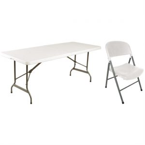 Special Offer Bolero 6ft Centre Folding Table with Six Folding Chairs