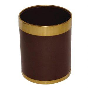 Bolero Waste Paper Bin with Gold Rim